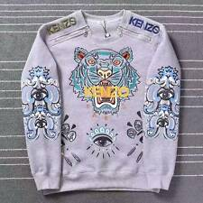 BNWT 100% AUTHENTIC KENZO 'tiger embroidered sweatshirt' Gray Sweater S