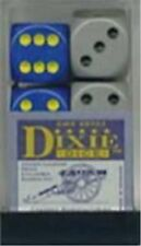 Chessex Dice d6 Sets Dixie Opaque Gray / Black & Blue with Yellow 16mm CHX 25701