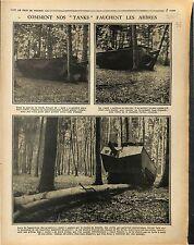 Manoeuvres Chars d'Assaut Tanks Panzer/Pont Bateaux Moselle Toul/Aisne 1917 WWI