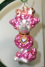 Radko FIFI L'AMOUR 1011035 Pink Poodle w/Heart Christmas Ornament New NWT