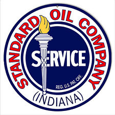 Indiana Standard Oil Company Motor Oil Sign 14 Round