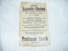 Carvin  Majestic  Cinema  Vintage Flyer For Harold  Lloyd  In  Professor  Snock