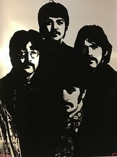 Vintage Beatles Velvet Black light Poster Original 1960's Mylar Pin-up Head Shop