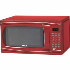 RCA 1.1-cu ft Microwave Red Defrost Cook Food Kitchen New