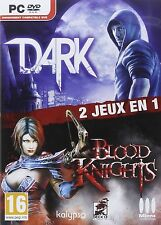40092 //BIPACK 2 JEUX DARK + BLOOD KNIGHTS POUR PC NEUF SOUS BLISTER