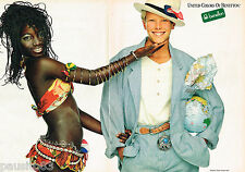 PUBLICITE ADVERTISING 065  1986  UNITED COLORS OF BENETTON  pret à porter  ( 2 p