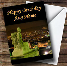 Spain Barcelona Personalised Birthday Greetings Card