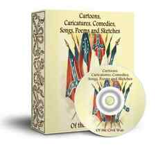 CARTOONS CARICATURES COMEDY SONGS POEMS OF CIVIL WAR RARE BOOKS  & IMAGES ON CD
