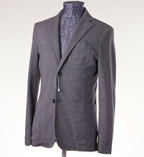 New Z ZEGNA Unstructured Gray Patterned Jersey Blazer Slim-Fit 38 R Sport Coat