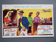 R&L Postcard: Comic, Brook Publishing, Aeroplane Flying/Woman with Big Boobs