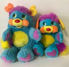 "Vintage 1985/1986 Mattel Popples PC Popple 13"" & Rare Smaller French Version Lot"
