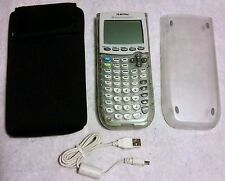 TEXAS INSTRUMENTS TI-84 PLUS Graphing Calculator +Cover, Pouch, Cord, PDF Manual
