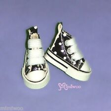 "Mimi Collection 12"" Neo Blythe Pullip Bjd Doll MICRO Shoes Dot Sneaker BLACK"