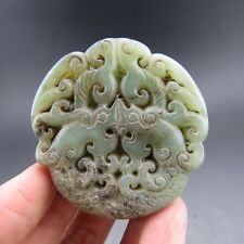Chinese antiques, noble collection, manual sculpture, jade, dragon,pendant T67