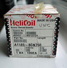 100 UNC 1/2-13 X .750 (1.5D) Helicoil Insertos de funcionamiento sin Ref: 1185-8CN750