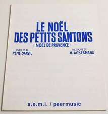 Partition sheet music SARVIL / ACKERMANS : LE NOEL DES PETITS SANTONS * 30's