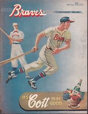 1951 Boston Braves vs St. Louis Cardinals Program & Scorecard Scored Correctly