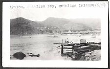 VINTAGE 1920 CATALINA ISLAND AVALON LOS ANGELES CALIFORNIA HARBOR BOAT OLD PHOTO
