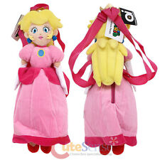 Super Mario Princess Peach Plush Doll Backpack Nintendo Cosplay Costume Bag19""
