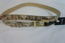 Style & Co Belt Sz M Gold Multi Print Casual Non Leather Material Belt SC799