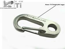 ill Gear 32mm Titanium Torsion Spring Gate Snap Clip Tall EDC Key Chain Ti Ring