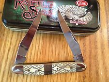 "CASE USA ""TEN DOT"" RATTLESNAKE MUSKRAT KNIFE NEW GIFT TIN RATTLE SNAKE CA44582"