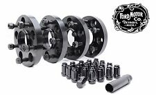 4 FORD 5 Lug Mustang Hubcentric Wheel Spacers 5x4.5 20mm, Spline Lugs Included!
