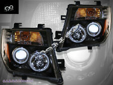 Fit For 05-08 Nissan Frontier/Pathfinder Dual CCFL Halo Projector Headlights BLK