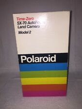 ☆☆☆new Rare POLAROID SX-70 LAND CAMERA SONAR TIME ZERO Auto Focus Model 2 ☆☆☆