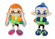Genuine Little Buddy Set of 2 Splatoon Stuffed Plush Doll Female & Male Inkling