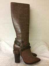"""NINE WEST Vintage America """"Creepin"""" Women brown Leather Boots  -Size US 7.5M"""