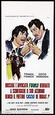 RIUSCIRA' L'AVVOCATO FRANCO BENNATO A SCONFIGGERE...CICCIO LOCANDINA CINEMA 1971