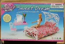 FANCY Life DOLLHOUSE FURNITURE SWEET DREAM DRESSING TABLE BEDROOM SET FOR BARBIE