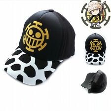 Top Anime One Piece Trafalgar Law cotton baseball cap Sun hat cosplay adjustable