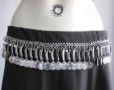 Coin Charm Metal Chain Womens Fashion BELT Boho Tribal Fusion Vintage Bellydance