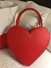 Kate Spade Large Doily Heart Tote Red Great For Valentine's Day Large