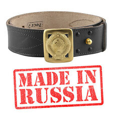 Genuine leather belt BLACK BROWN Russian military uniform RKKA USSR Officer army