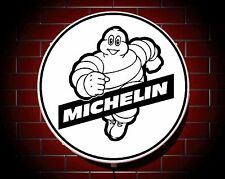 MICHELIN LED 600mm ILLUMINATED WALL LIGHT CAR BADGE GARAGE SIGN LOGO MAN CAVE
