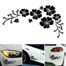 2PCS Black Flower Vinyl Auto Car Graphics window Sticker Decal Decor Vinyl