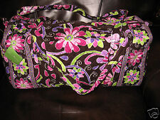 Vera Bradley PURPLE PUNCH Small Duffel TRAVEL Carryon Bag NWT Rare!