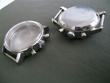 Chrono-Uhrgehäuse Stahl mit geschraubtem Boden
