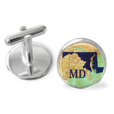 Maryland State Cufflinks, MD Cufflinks, State cufflinks, Ideas for christmas