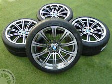 "GENUINE BMW M3 E90/2/3 19"" 220M SPORT SILVER/BLACK ALLOY WHEELS+MICHELIN TYRES"