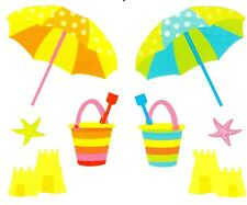 ~ Sand Castle Beach Umbrella Bucket Castle Spade Mrs Grossman Stickers ~