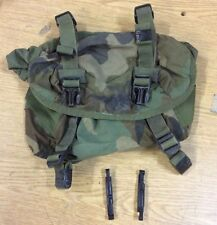 USED US ARMY FIELD TRAINING WAIST UTILITY BUTT PACK ALICE WOODLAND CAMO BAG