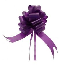 50mm Purple Pull Bows x 2 - Weddings, Christenings, Party, Gifts, Events
