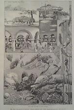New Aquarium in Historic Castle Garden New York 1896 Harper's Weekly