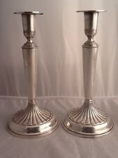 Superb Pair Of Elegant Scandenavian 830S Swedish Silver Candlesticks - 1968
