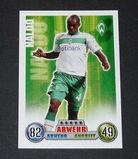 NALDO WERDER BREMEN TOPPS MATCH ATTAX PANINI FOOTBALL BUNDESLIGA 2008-2009