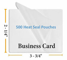 """Premium 5 Mil Business Card Size Heat Seal Laminating Pouches 500 2.25"""" x 3.75"""""""